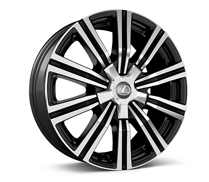 Lexus LX 21-in split-10-spoke alloy wheel.