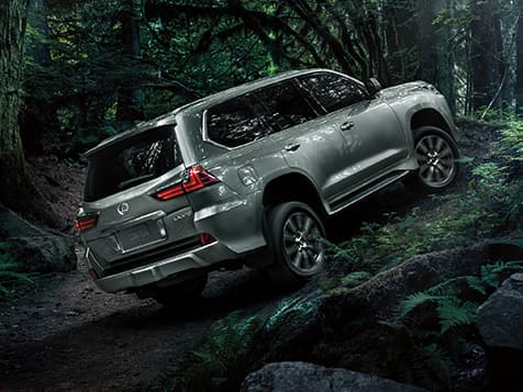 Exterior shot of the 2019 Lexus LX in Atomic Silver.