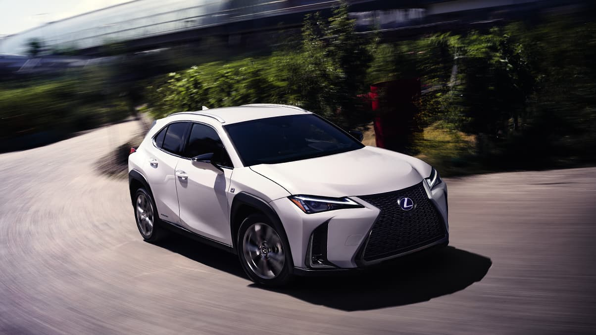 2019 Lexus UX F SPORT shown in Ultra White.