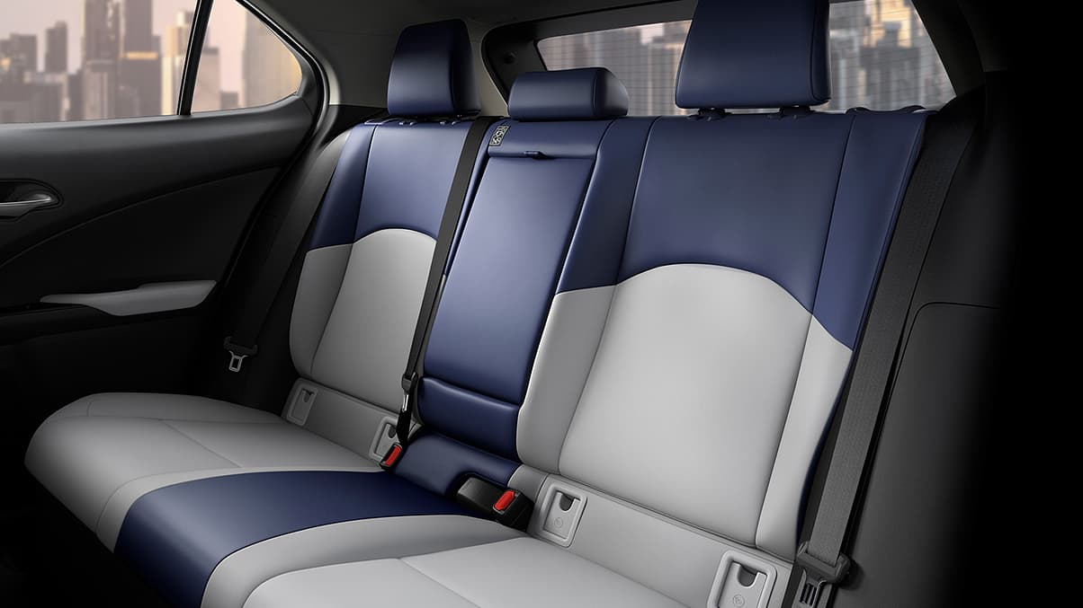 Interior Shot Of The 2019 Lexus Ux Shown With Birch Lapis Nuluxe Trim