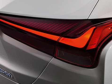 Exterior shot of the 2019 Lexus UX Hybrid LED taillamps.