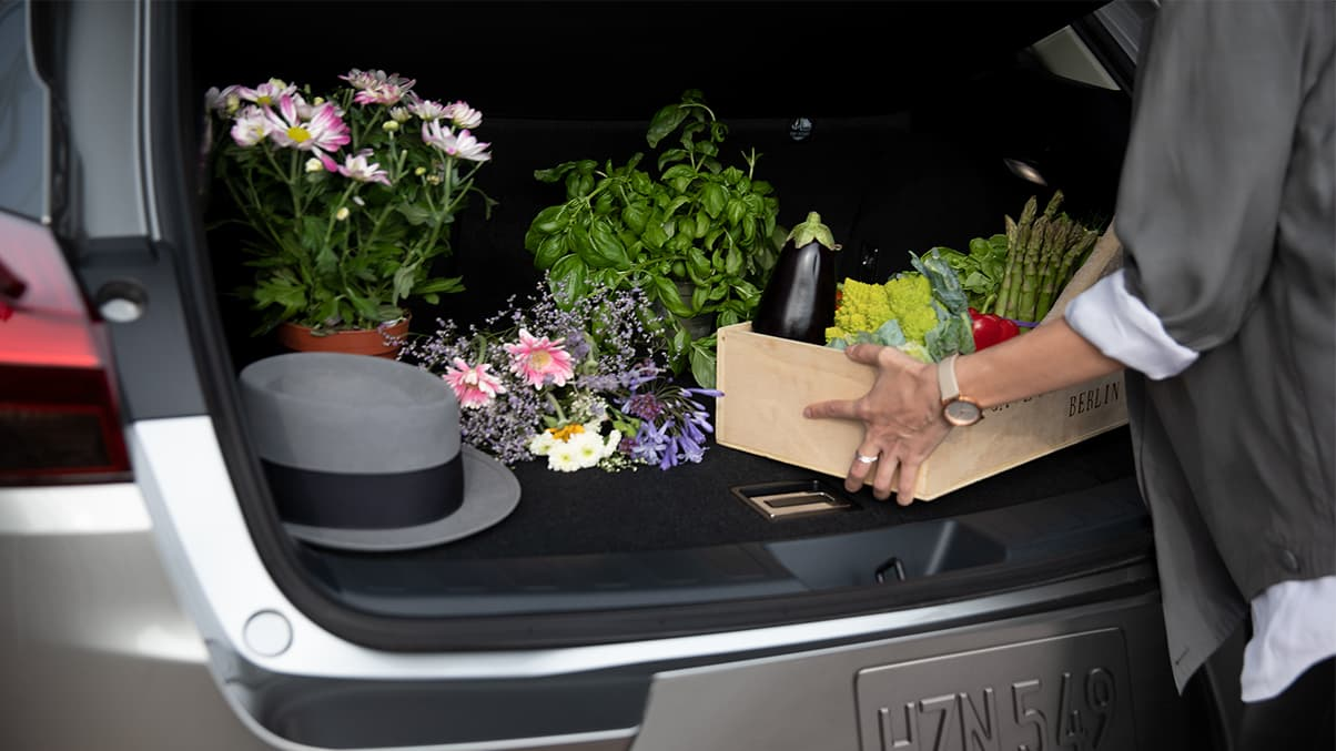 Interior shot of the 2019 Lexus UX Hybrid 17.1 cubic feet cargo space.