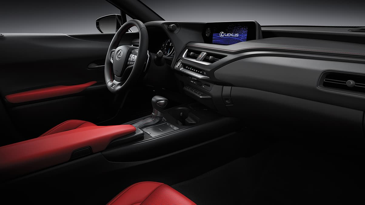 2019 Lexus UX F SPORT shown with Circuit Red NuLuxe®.