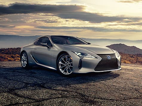 Lexus LC 500h shown in Atomic Silver.