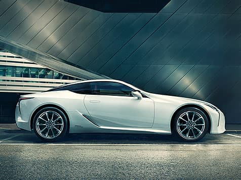 Lexus LC 500h shown in Ultra White.
