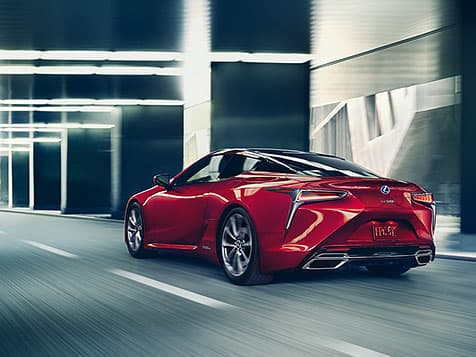 Lexus LC 500h shown in available Infrared.