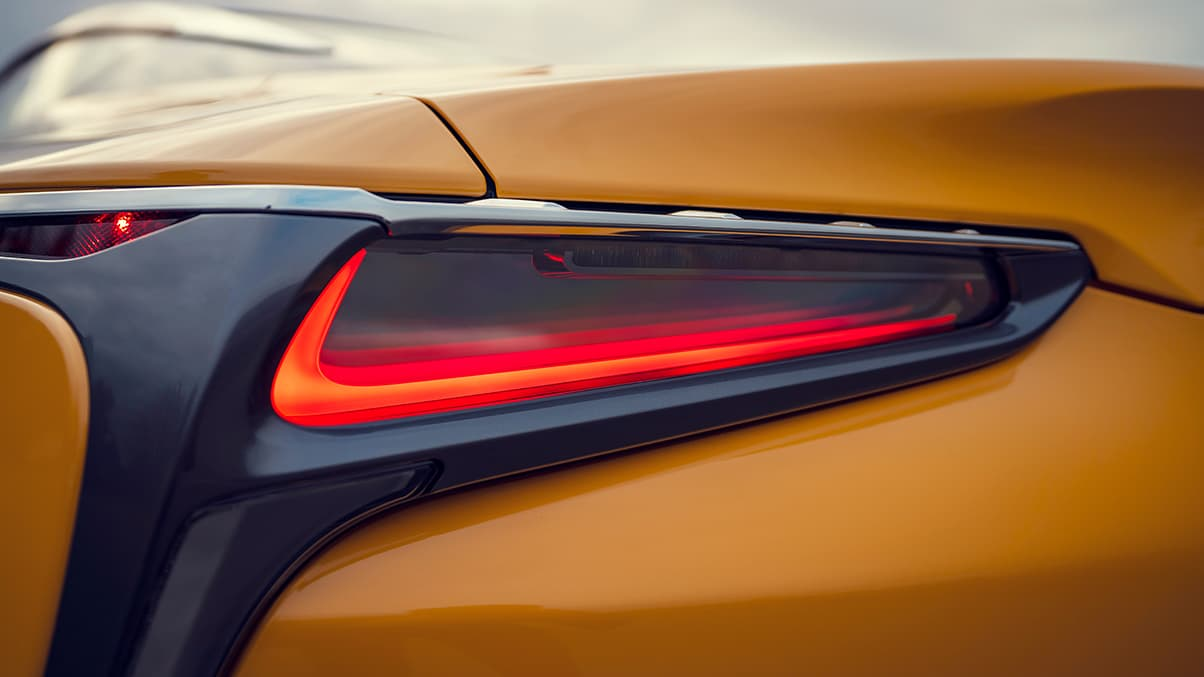 2019 LC Inspiration Series shown in Flare Yellow featuring the LED rear taillamps.