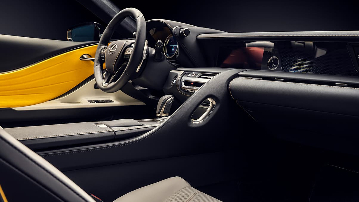 2019 LC Inspiration Series interior showing the driver-inspired cockpit.