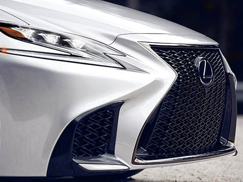 Lexus LS F SPORT Premium Triple-Beam LED headlamps.