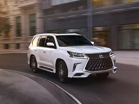 Lexus LX shown in Eminent White Pearl