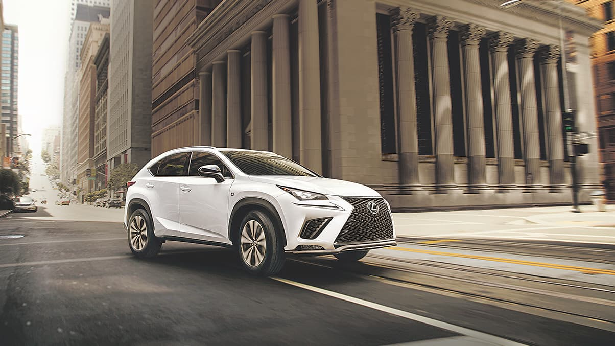 Lexus NX F SPORT shown in Ultra White