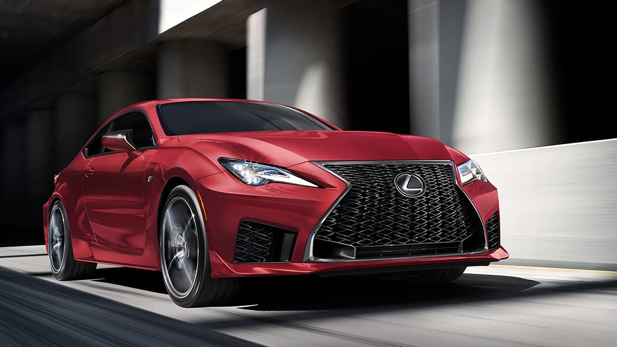 Side angle of 2020 RC F shown in available Infrared.