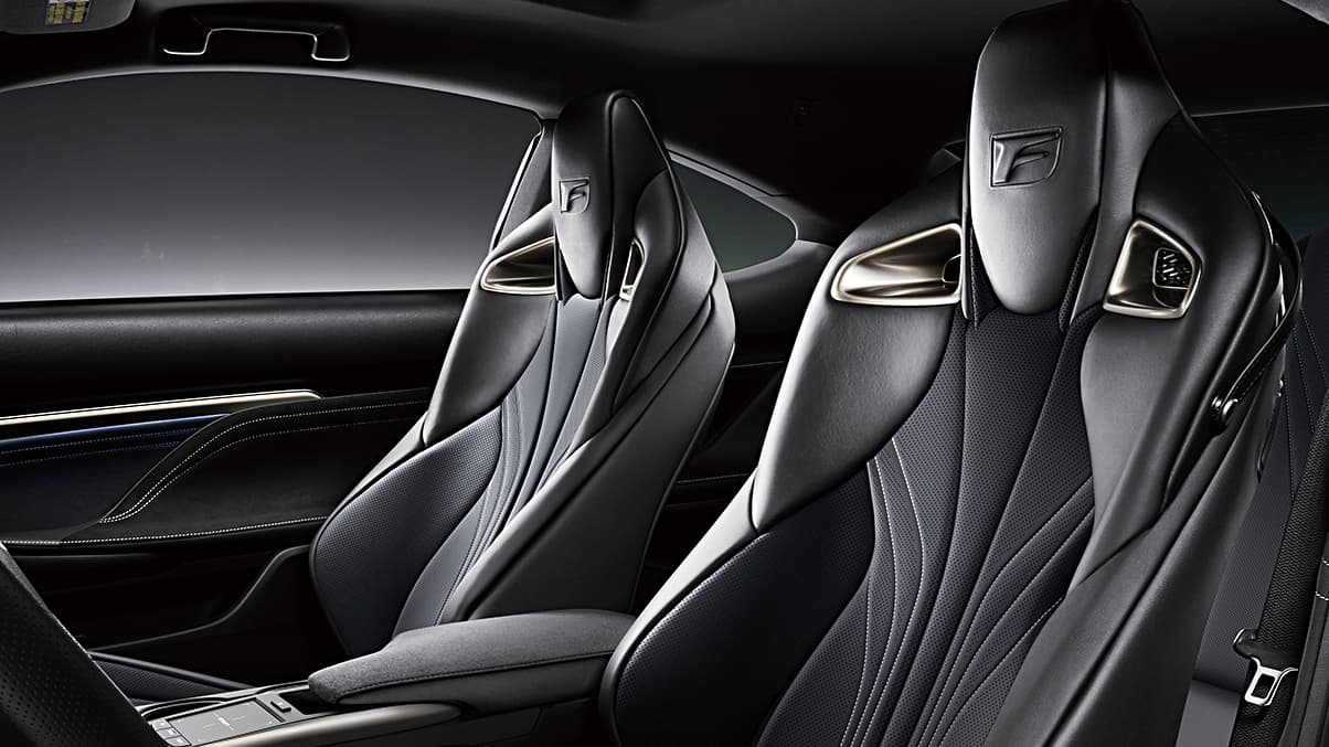 2020 RC F shown with Black leather interior.