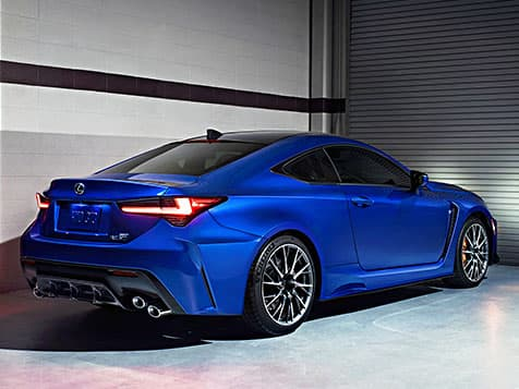 2020 RC F shown in available Ultrasonic Blue Mica 2.0.