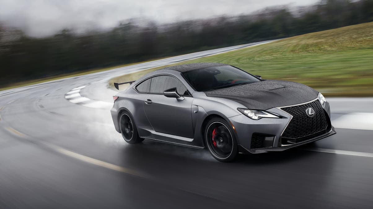 2020 RC F Track Edition shown in available Matte Nebula Gray.