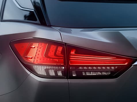 Lexus RX shown with LED taillamps.
