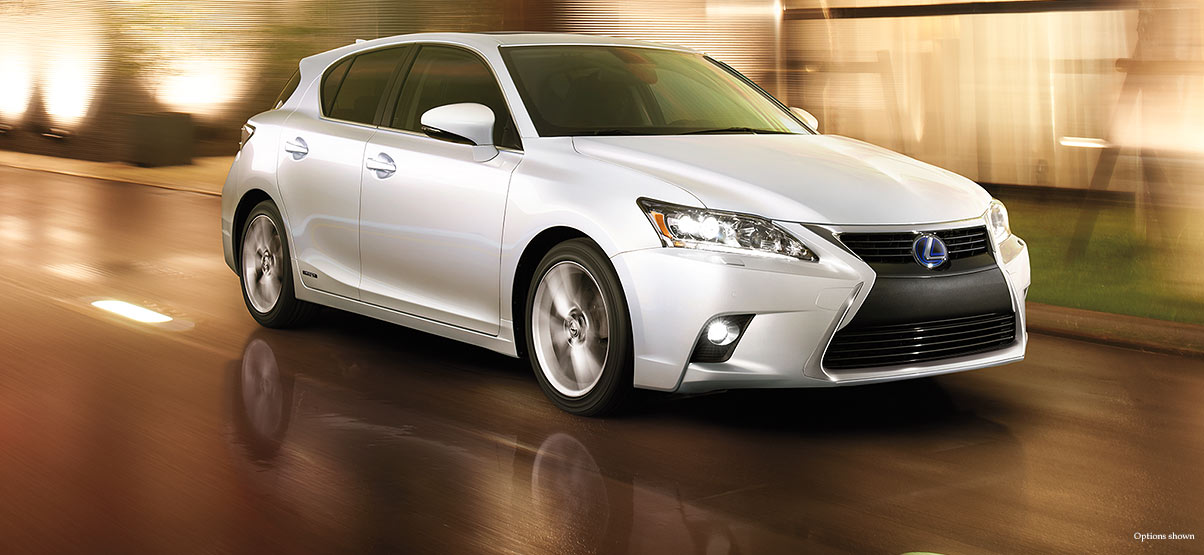 Exterior Shot Of The 2017 Lexus Ct Shown In Eminent White Pearl