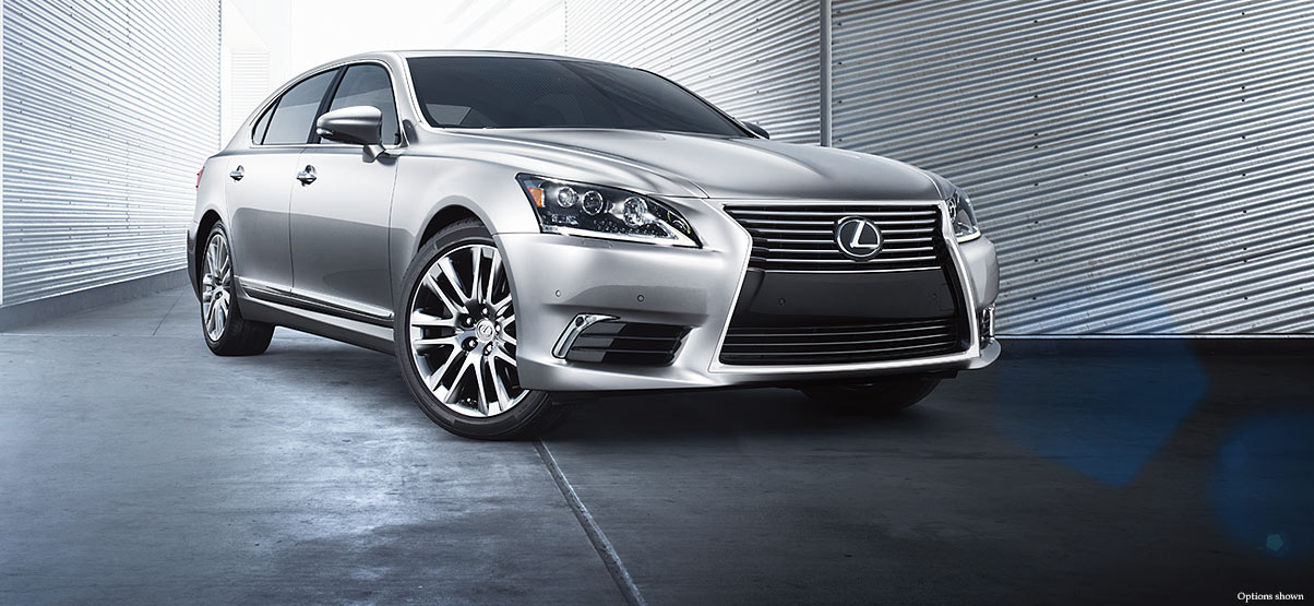 Exterior shot of the 2017 Lexus LS shown in Atomic Silver