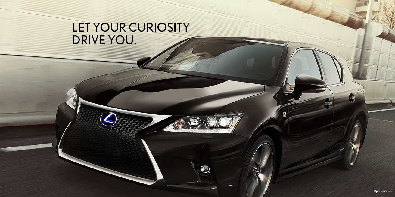 Exterior shot of the 2017 Lexus CT shown in Obsidian.