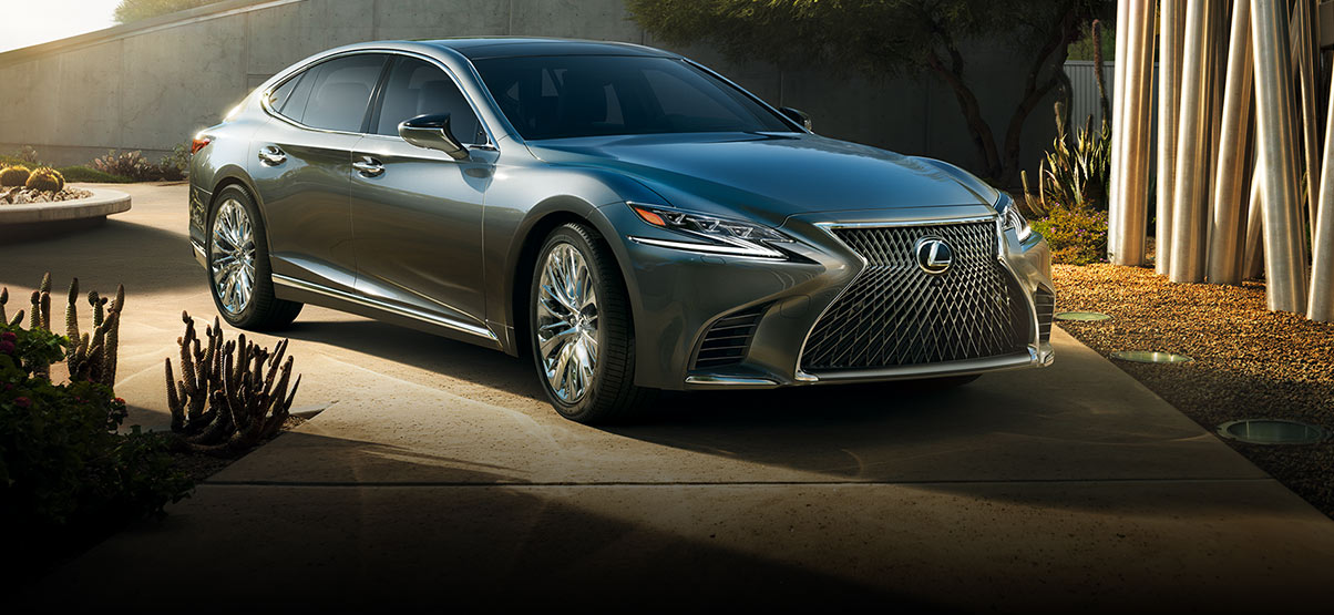 Exterior shot of the 2018 Lexus LS