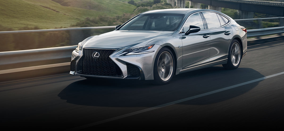 Exterior shot of the 2018 Lexus LS F SPORT
