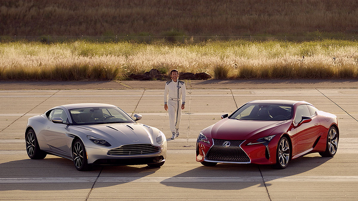 Watch The Lc 500 Go Head To With Db11 V12 Coupe
