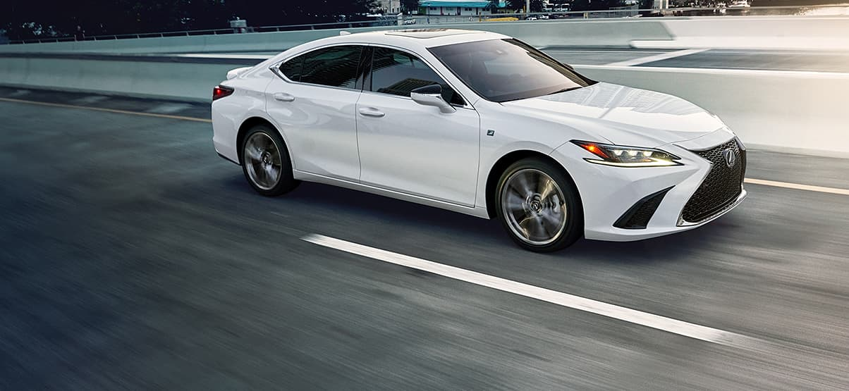 Lexus ES F SPORT shown in Ultra White.