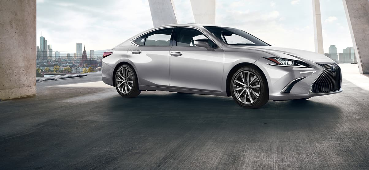 Lexus ES shown in Silver Lining Metallic.
