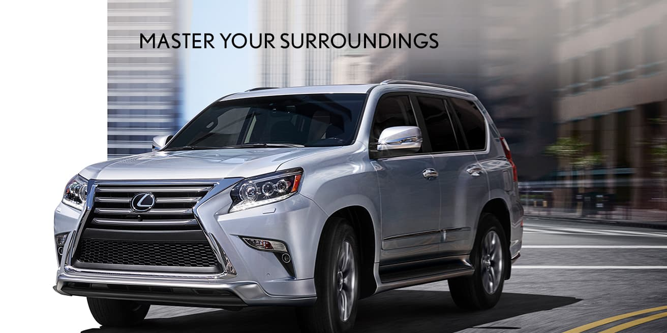 Exterior shot of the 2019 Lexus GX 460 shown in Black Onyx.