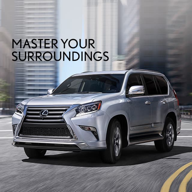 Exterior shot of the 2019 Lexus GX shown in Silver Lining Metallic.