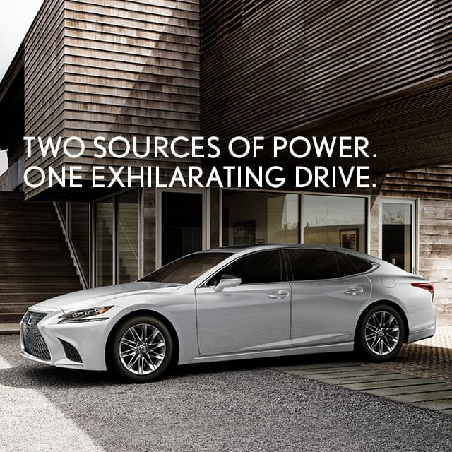 Lexus LS Hybrid shown in Eminent White Pearl.