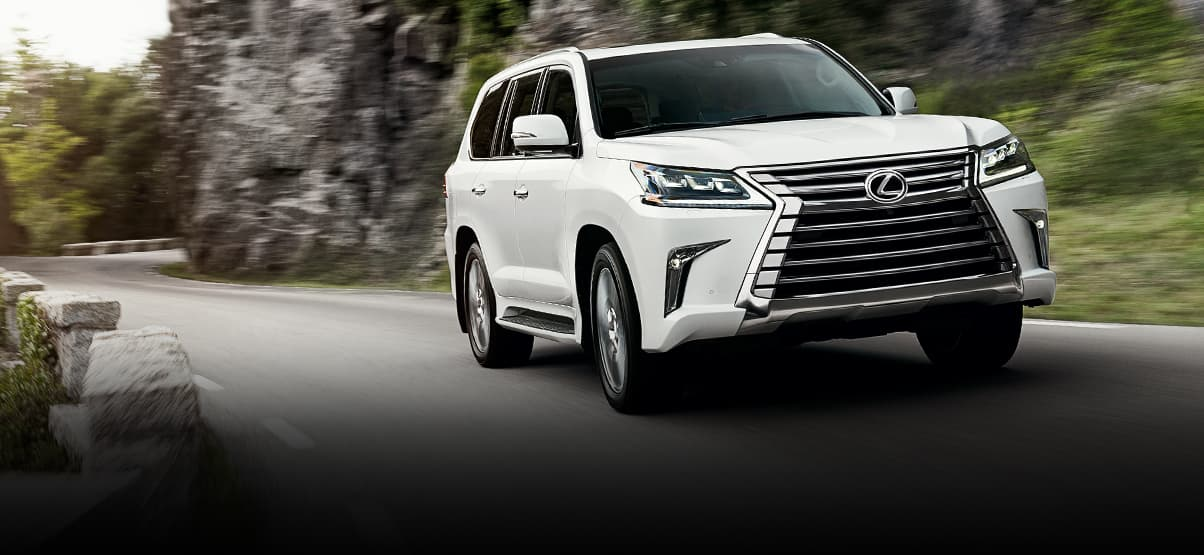 Exterior Shot Of The 2019 Lexus Lx In Eminent White Pearl