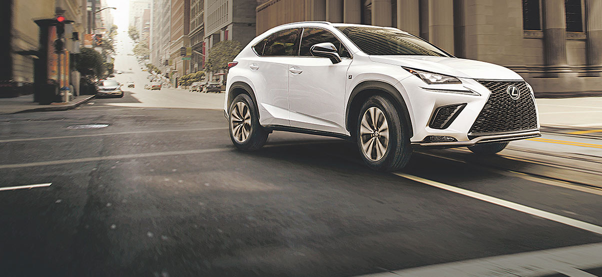 Exterior shot of the 2019 Lexus NX 300 F Sport