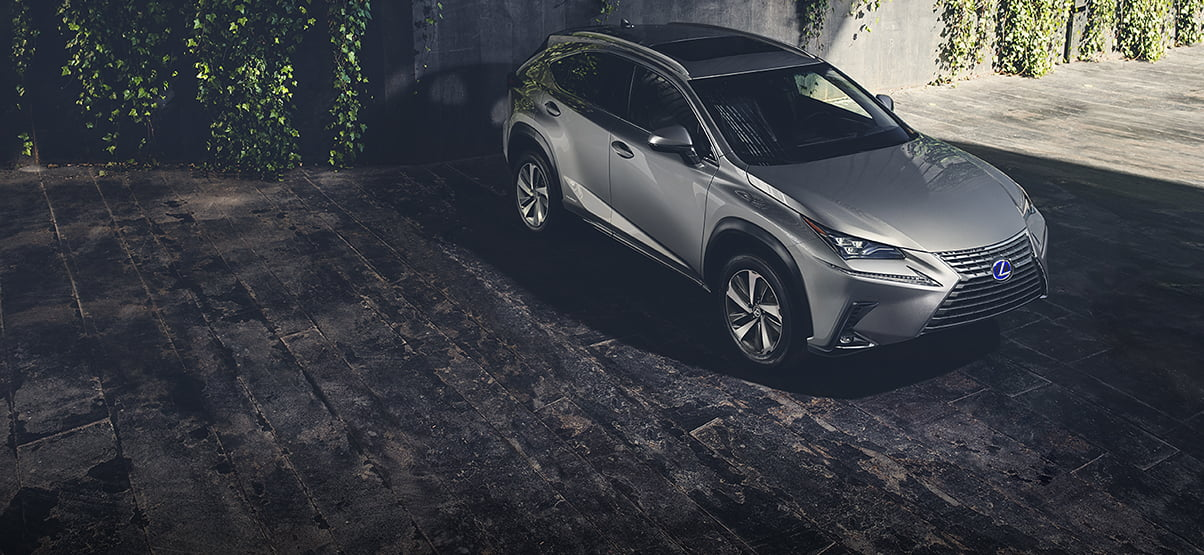 Exterior shot of the 2019 Lexus NX 300h