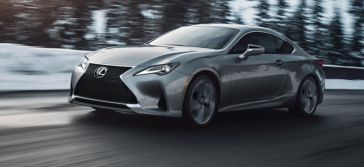 Lexus RC shown in Nebula Gray Pearl.