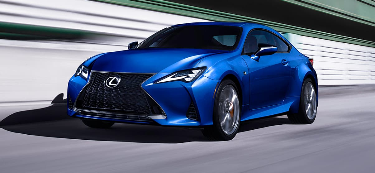 Lexus RC F SPORT shown in Ultrasonic Blue Mica 2.0.