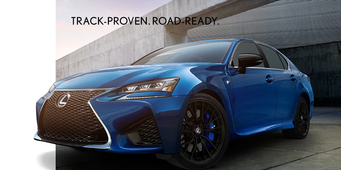 Lexus GS F shown in Ultrasonic Blue Mica 2.0.