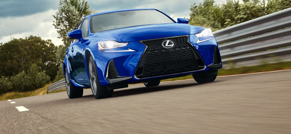 Lexus IS F SPORT shown in Ultrasonic Blue Mica 2.0.