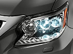 Exterior headlamp shot of the 2019 Lexus GX.