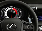 Heated leather-trimmed steering wheel.