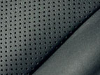 Semi-aniline perforated leather-trimmed front seats.
