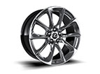 20-INCH SPLIT-FIVE-SPOKE FORGED ALLOY WHEELS WITH POLISHED FINISH