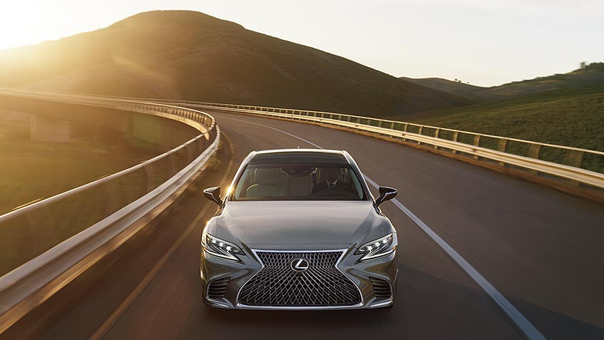 Lexus LS shown in Manganese Luster.