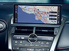 Navigation system with 10.3-inch split-screen multimedia display.
