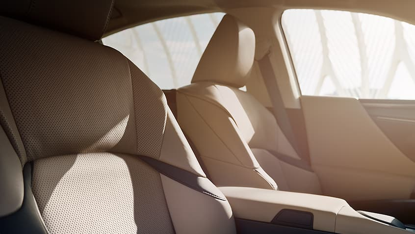 Interior of the Lexus ES shown in Chateau NuLuxe.