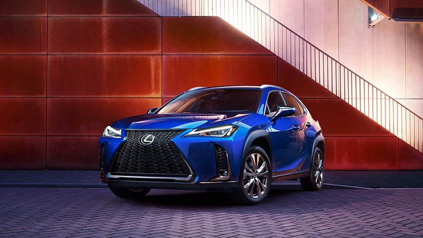 Lexus UX F SPORT shown in Ultrasonic Blue Mica 2.0.