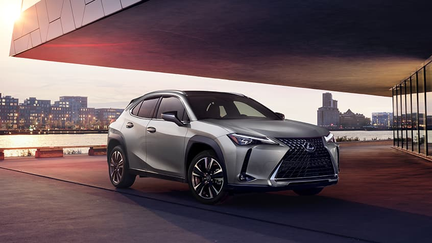 Lexus UX shown in Atomic Silver.