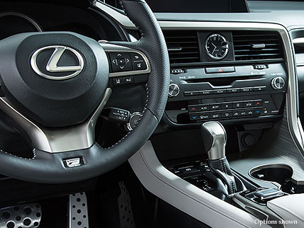 Interior shot of the 2018 Lexus RX F Sport