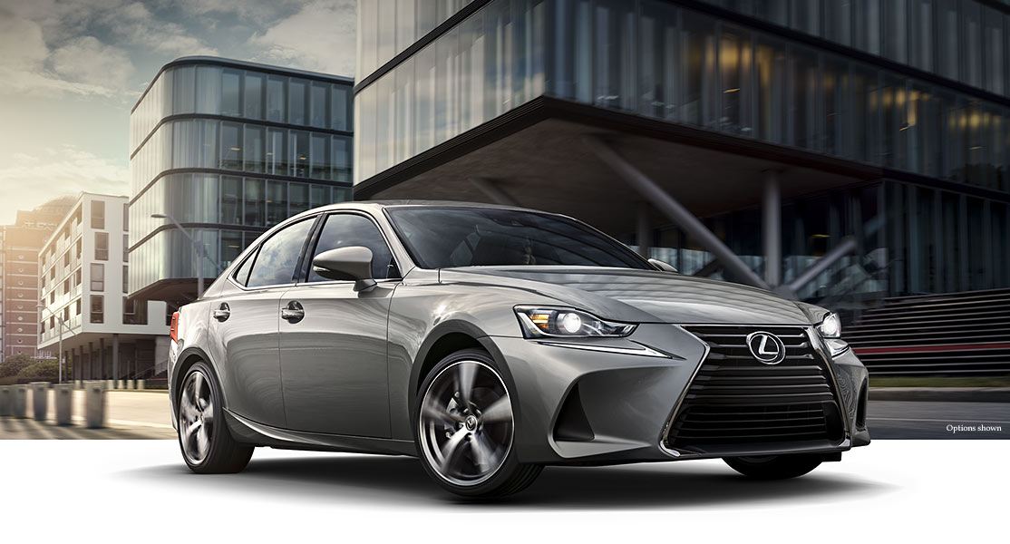 Exterior shot of the 2018 Lexus IS 350 shown in Atomic Silver.