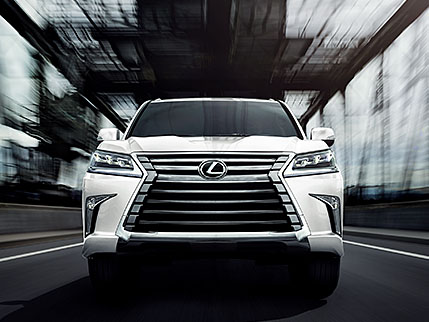 Lexus LX shown in Eminent White Pearl.